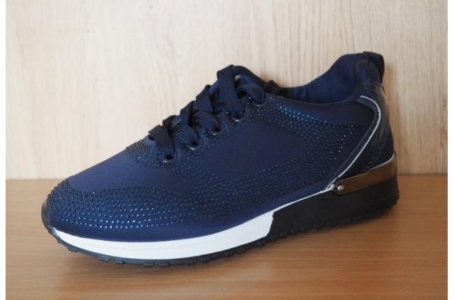 Дамски спортни обувки с камъчета DEEP BLUE