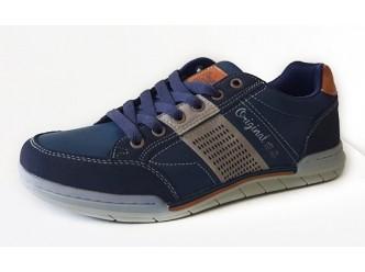 Мъжки ежедневни обувки NAVY/L.BROWN